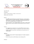 Meeting Minutes Aug 2019